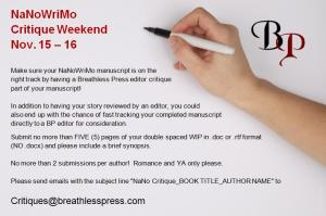 NaNoWriMo Critique Breathless Press